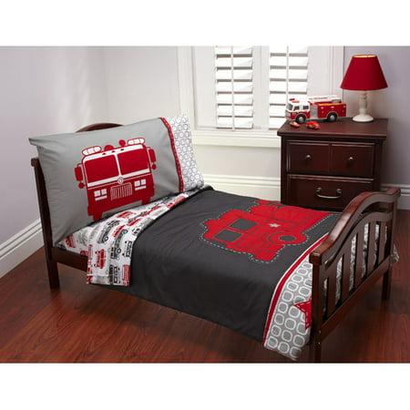 Carter S 4 Piece Toddler Bed Set Fire Truck Walmart Com