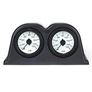 AirBagIt AIR-GAUGE-POD-02 2-Gauge Pod With 2-Dual Needle Air Pressure Gauges