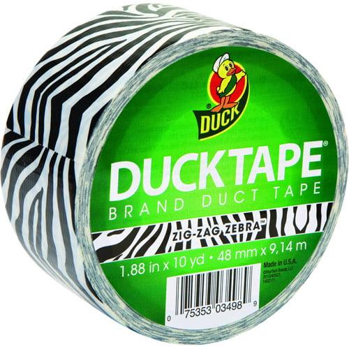 "Duck Brand Duct Tape, 1.88"" x 10 yard, Zebra"