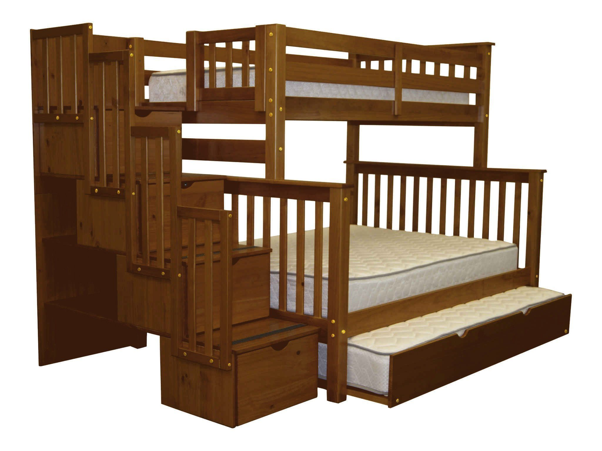 Merveilleux Bedz King Stairway Bunk Beds Twin Over Full With 4 Drawers In The Steps And  A