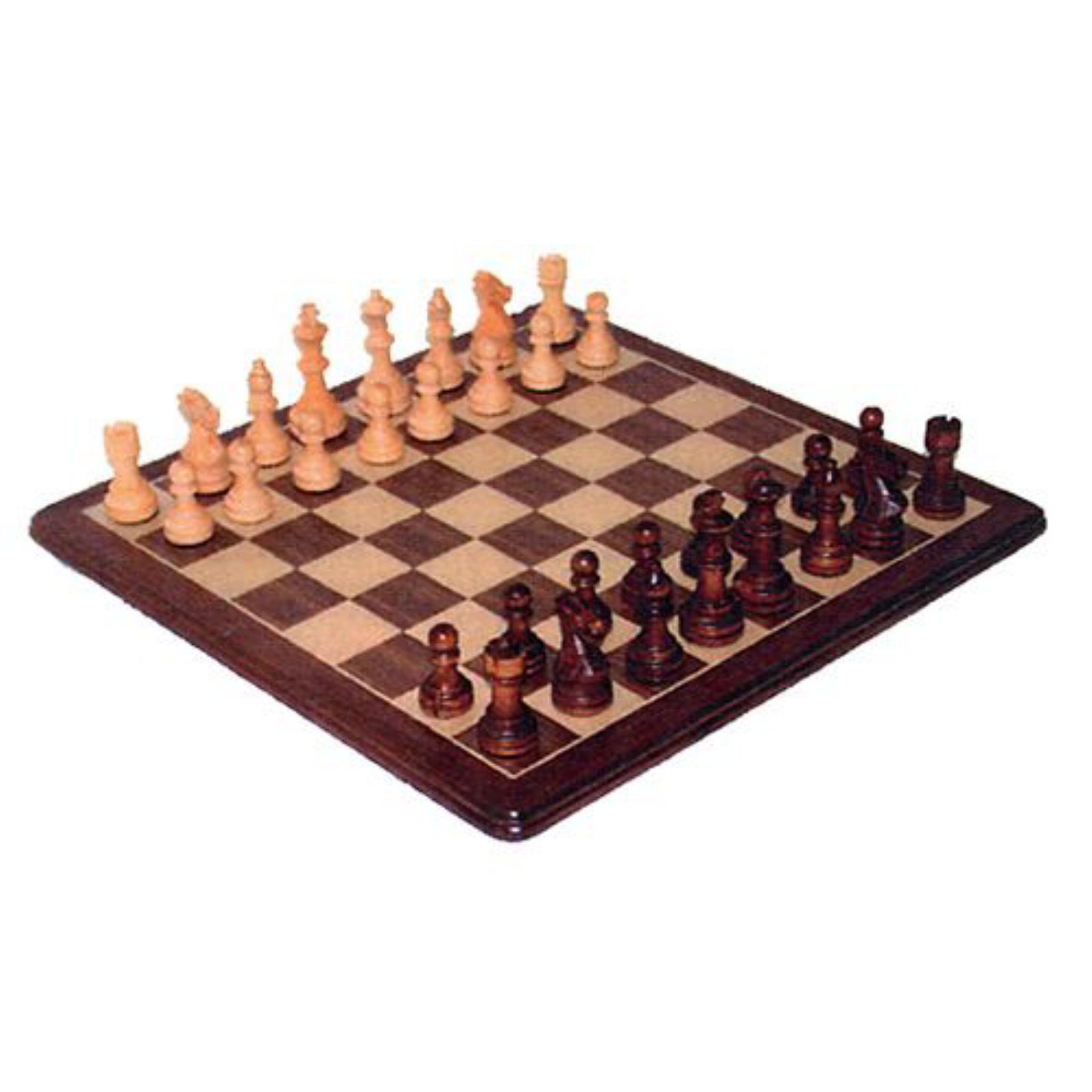 Wood Expressions Polished Walnut Staunton Chess Set