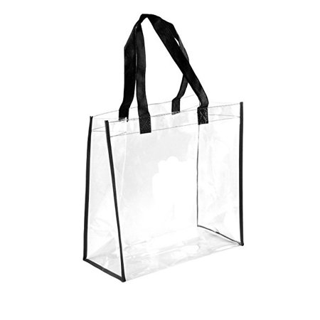 NFL AAF Stadium Approved Clear Tote PGA Compliant See Through Tote Transparent Bag