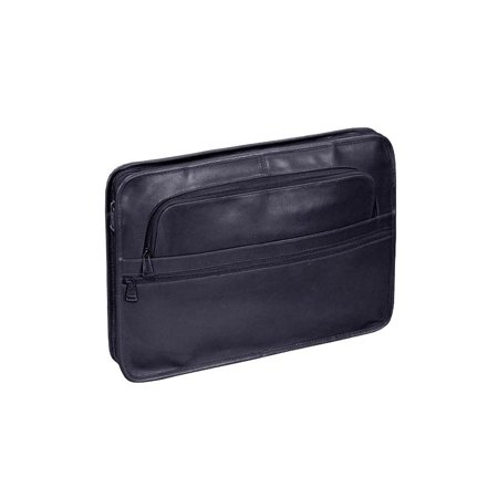 The Chief Harness Cowhide Leather Slim Portfolio Black Executive Leather Portfolio
