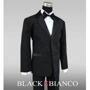 Boys Kids Black Tuxedo Suit Bow Tie