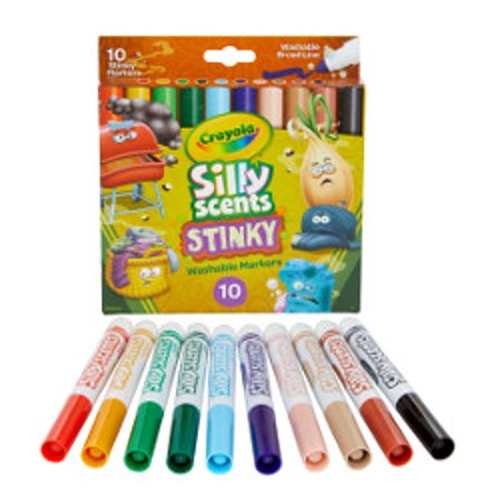 Crayola Silly Scents Stinky 10 Count Broad Line Markers