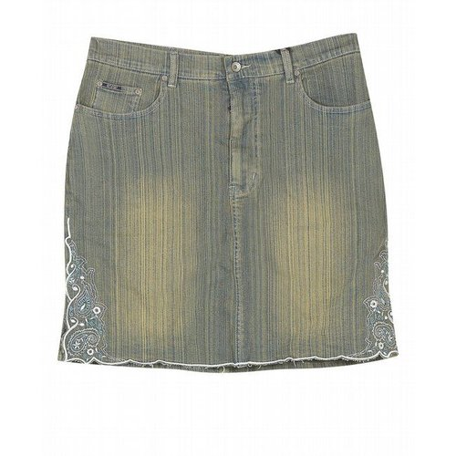 embroidered denim skirt walmart