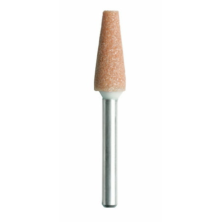 - Dremel 953 1/4 inch Aluminum Oxide Pointed Cone Shaped Grinding Stone, 2-Pack