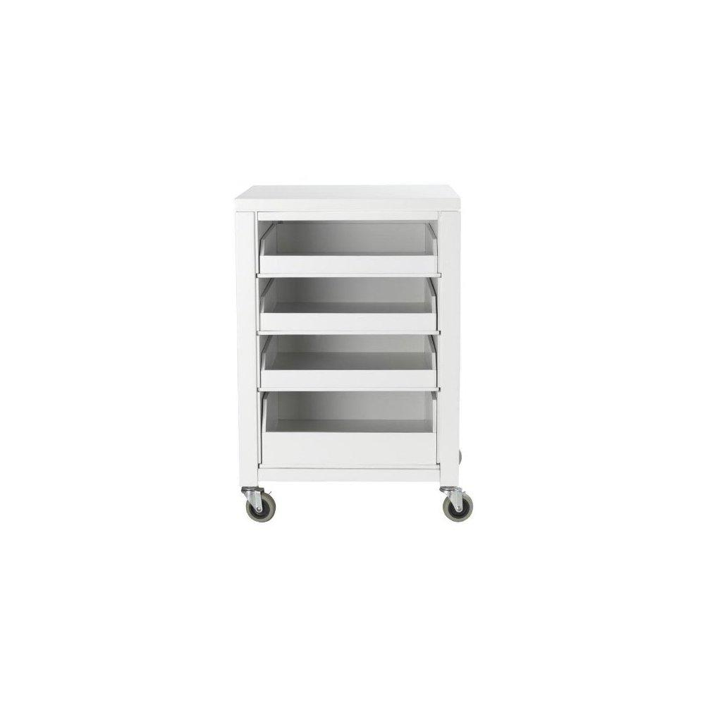 ... Martha Stewart Living Craft Space Cart With Pull Out Trays,  31hx21wx20d, Picket Fence