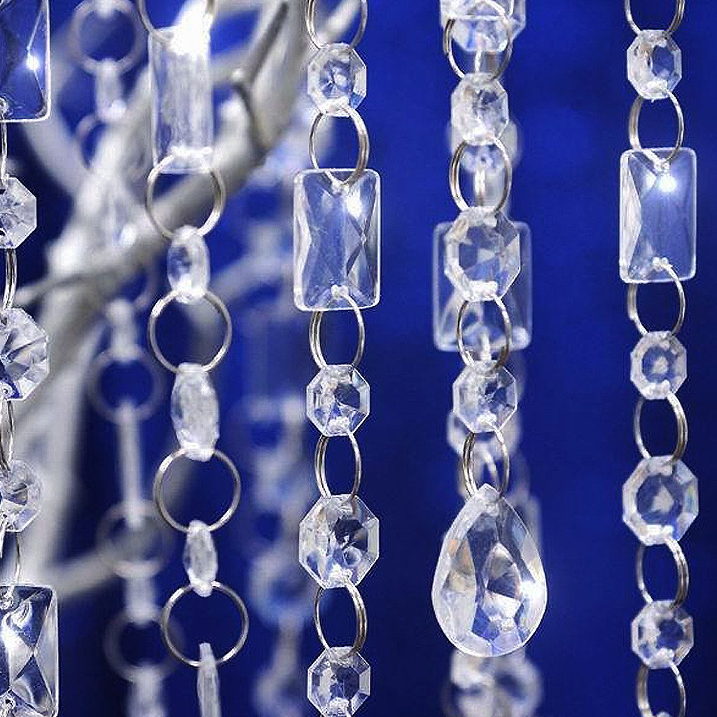 Efavormart Princess-Style Acrylic Diamond Garlands - 5 Chains Clear