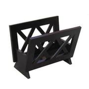 contemporary style mahogany finish solid wood magazine rack - Bathroom Magazine Rack