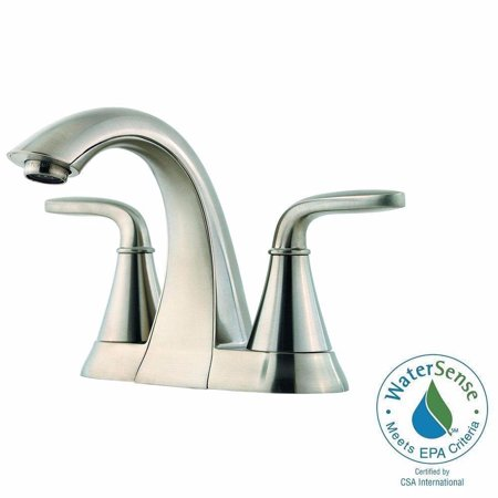 Pfister LF-048-PDKK Pasadena 4 in. Centerset 2-Handle Bathroom Faucet in Brushed Nickel