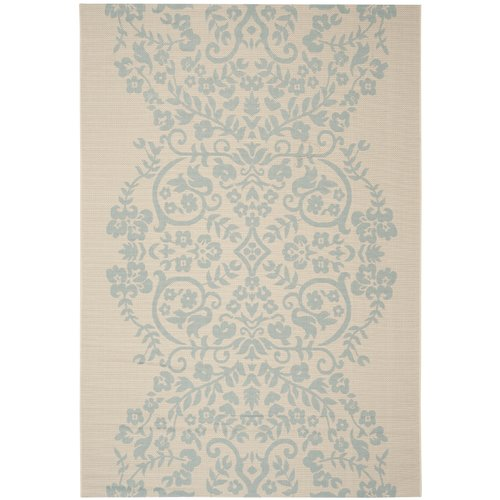 Martha Stewart Rugs Tapestry Blue/Tan Area Rug