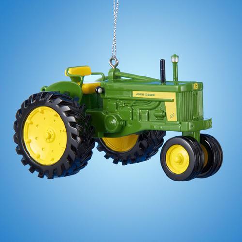 Club Pack of 12 John Deere 720 Diesel Tractor Decorative Christmas Ornaments