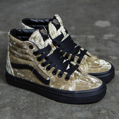 VANS - Vans SK8 Hi Velvet Tan Black Women s Classic Skate Shoes Size 6.5 -  Walmart.com d4779b038