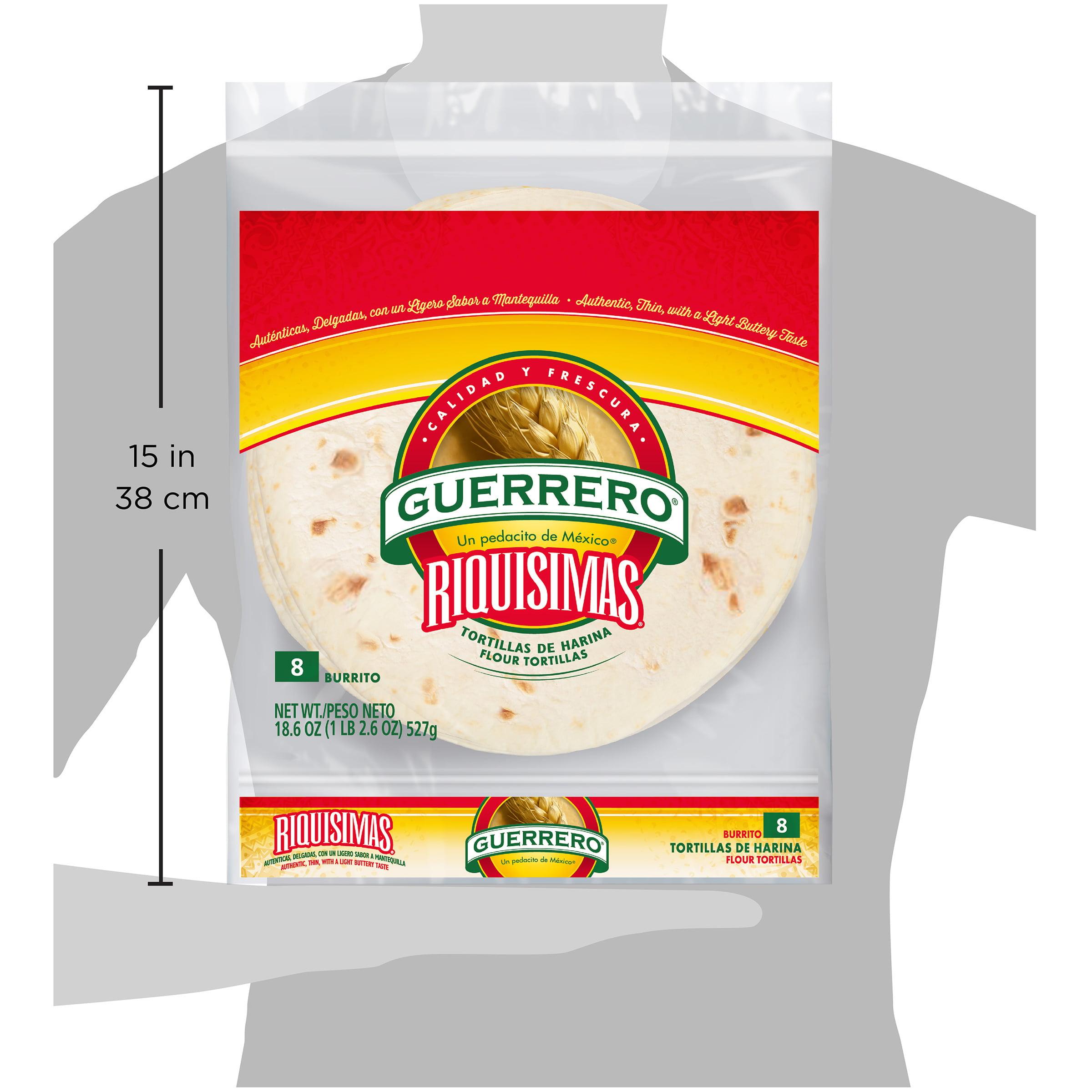 Guerrero Riquisimas Burrito Flour Tortillas 8 Count Walmart Com Walmart Com
