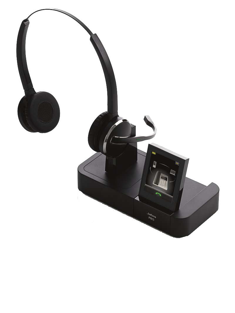 Jabra PRO 9460 Duo DECT 6.0 Wireless Headset W  DSP & Noise-Canceling Microphone (1-Pack) by Jabra