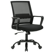 Home Office Chair Ergonomic Cheap Desk Chair Swivel Rolling Computer Chair Executive Lumbar Support Task Mesh Chair Adjustable Stool for Women Men, Grey