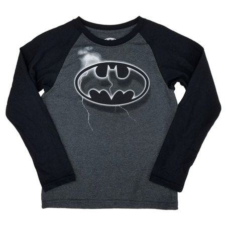 Lightning Long Sleeve (DC Comics Batman Little Boys Lightning Strike Bat Symbol Long Sleeve Shirt )