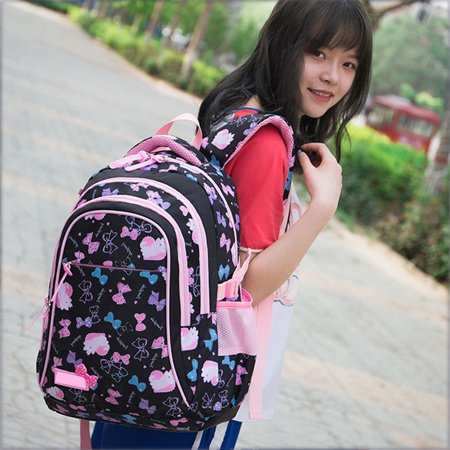 Satchel Girl School Backpack School Bag Backpack Children Daypack 3 parts Set for school and leisure - image 1 de 6