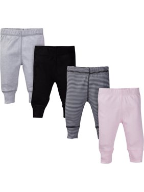 Gerber Baby Girl Assorted Active Pants, 4-pack