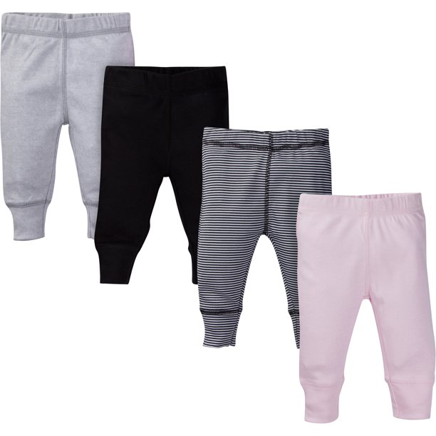 Gerber Baby Girl Assorted Active Pants, 4-Pack - Walmart.com - Walmart.com