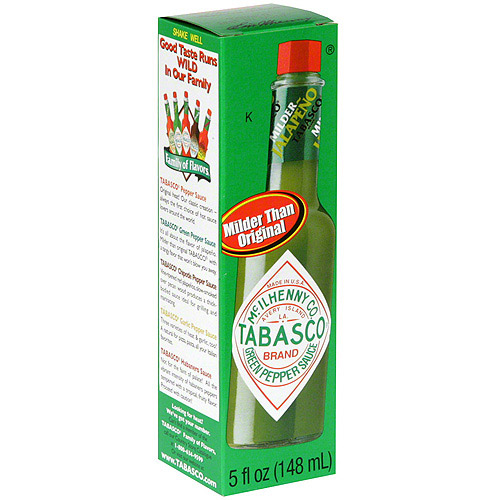 Tabasco Green Pepper Sauce, 5 oz (Pack of 12)
