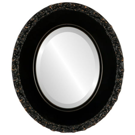 The Oval and Round Mirror Store Williamsburg Framed Oval Mirror in Rubbed Bronze - Antique