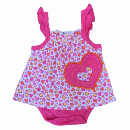 Infant Girls Pink Leopard Heart Print Bodysuit Baby Creeper Outfit](Childrens Leopard Print Onesie)