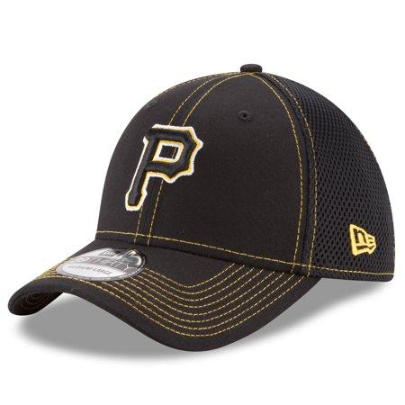New Era Stock - Pittsburgh Pirates New Era Shock Stitch Neo 39THIRTY Flex Hat - Black