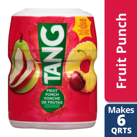 Tang Powdered Soft Drink Mix, Fruit Punch, Caffeine Free, 18 oz Jar](Fruit Punch With Sherbet)