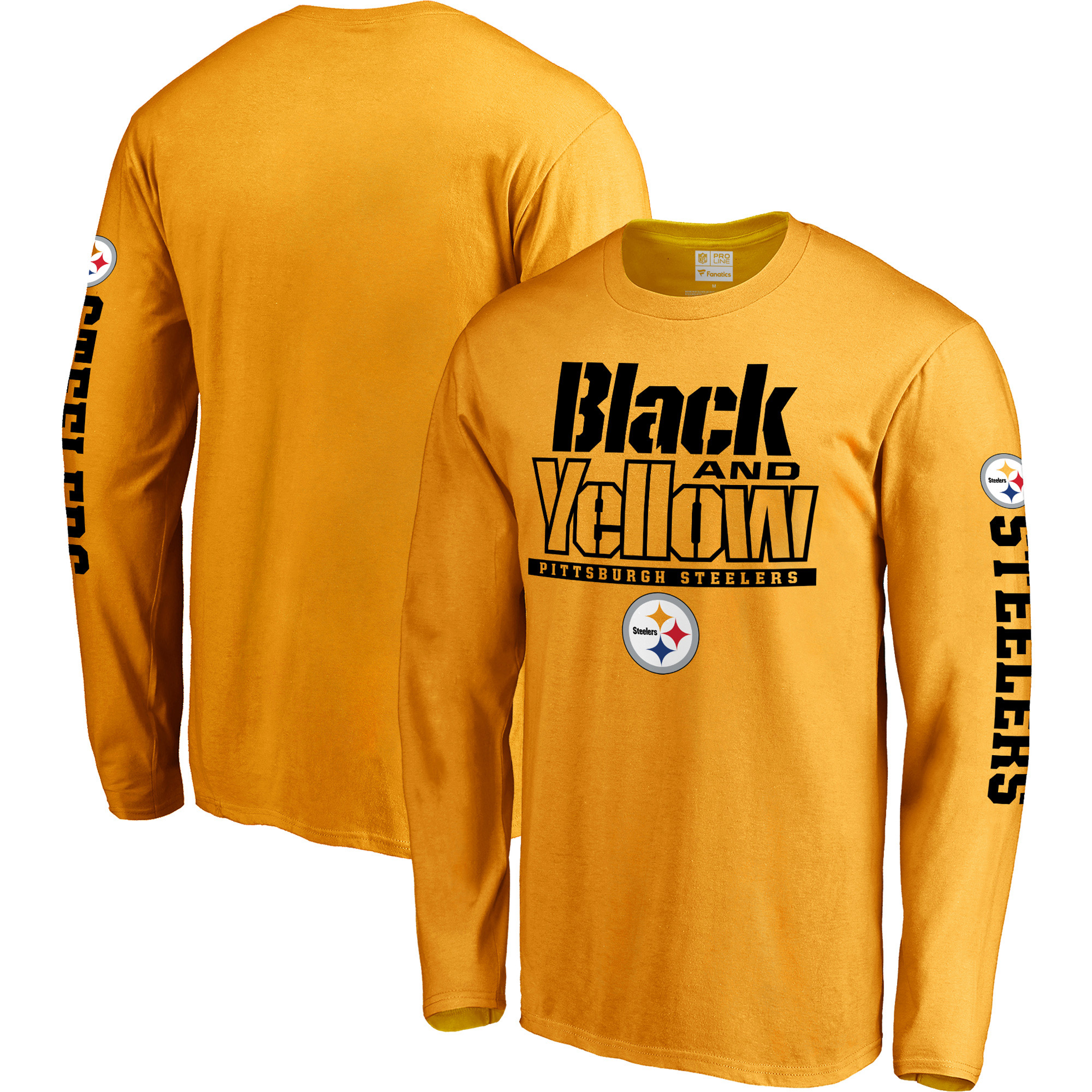 Pittsburgh Steelers NFL Pro Line Hometown Collection Long Sleeve T-Shirt - Gold