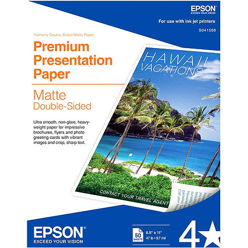 Epson S041568 Double-Sided Matte Presentation Paper