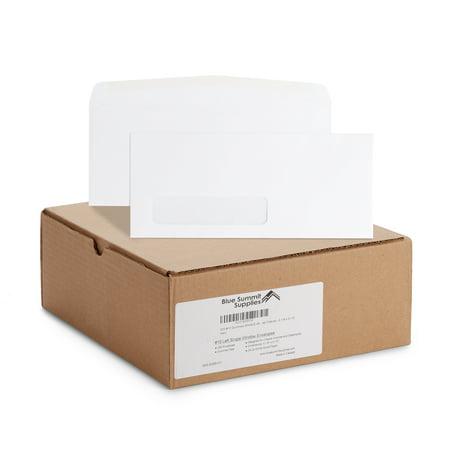 Blue Summit Supplies #10 Gummed Envelopes, Single Window, 500/box (Wedding Envelope Box)