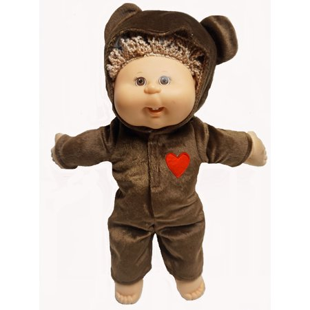 Brown Bear Halloween Costume Fits Cabbage Patch Kid Dolls