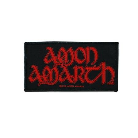 Vikings Applique (Amon Amarth Logo Patch Viking Death Metal Music Band Fan Jacket Sew On Applique )