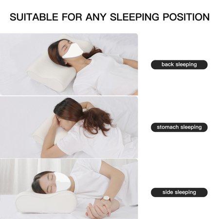 Sleep Contoured Memory Foam Pillow Neck Pillow Standard Size 60 x 40 x 15/13cm - image 1 de 8