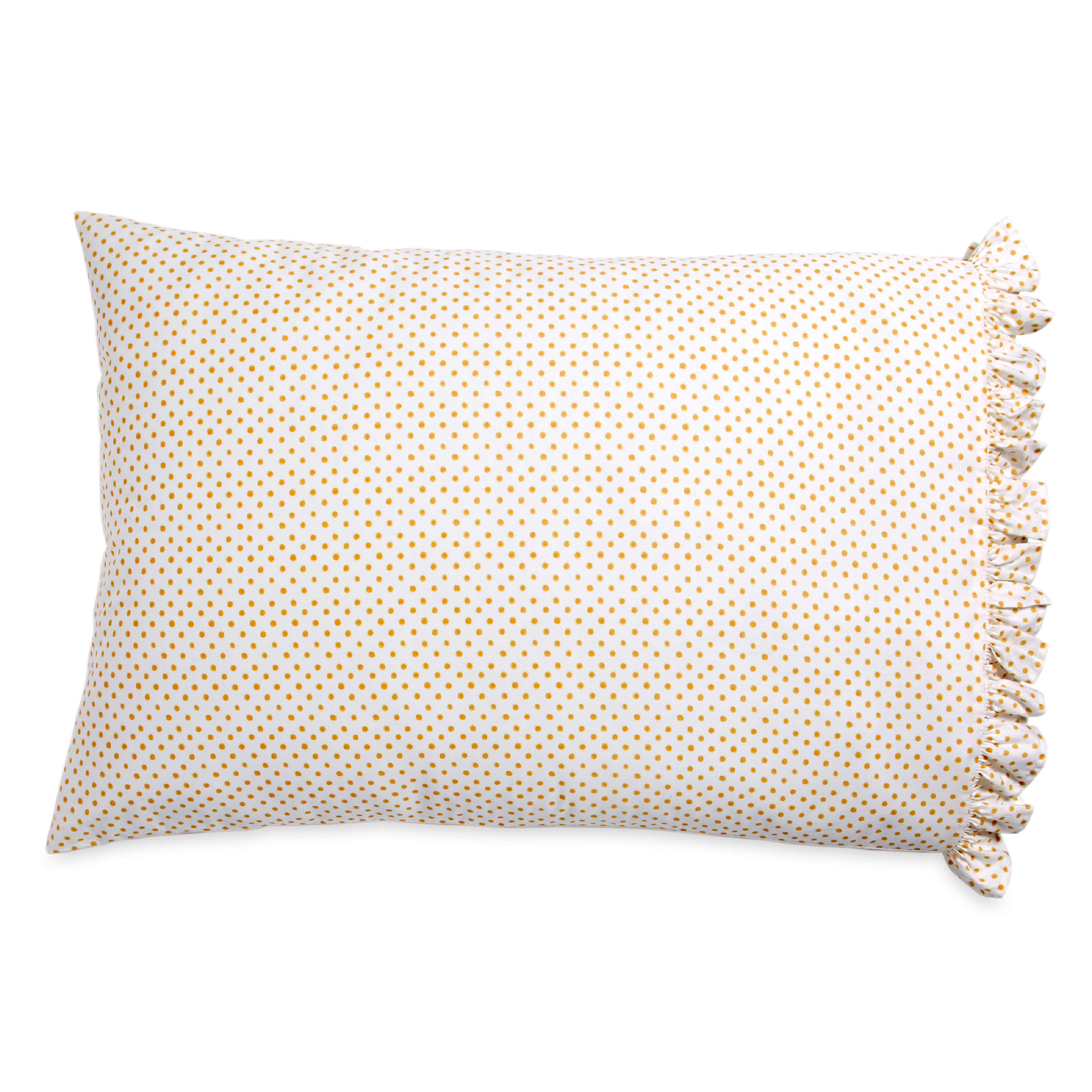 PIONEER WOMAN POLKA DOT RUFFLE PILLOWCASE SET