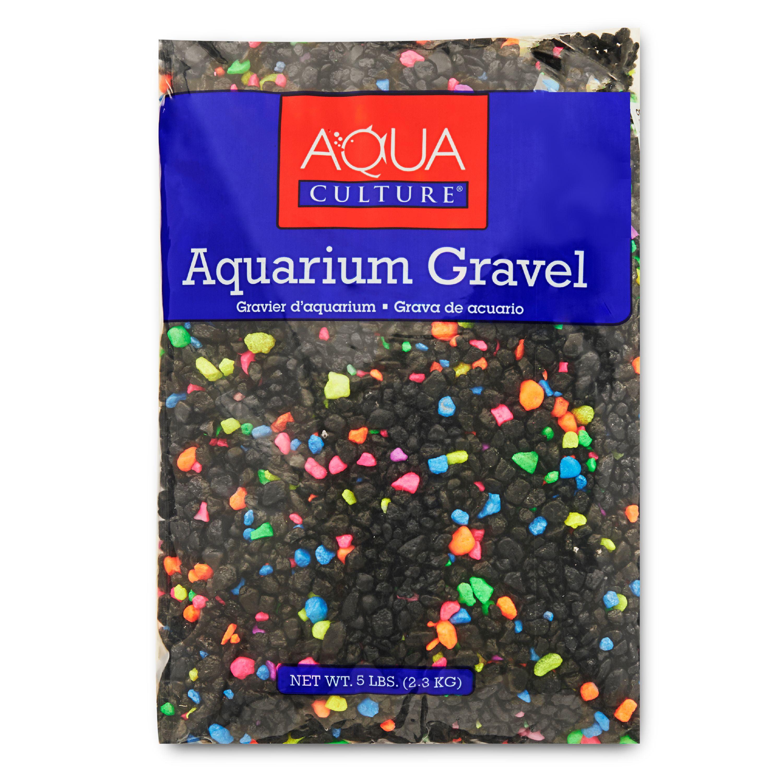 (2 Pack) Aqua Culture Aquarium Gravel Mix, Neon Starry Night, 5-Pound