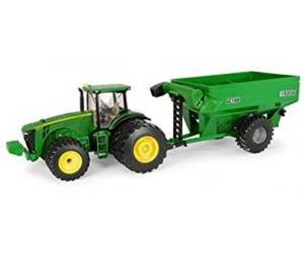 John Deere Ertl 8260R Tractor with Frontier Grain Cart (1:32 Scale) by John Deere