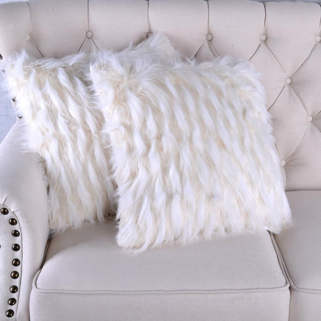 Serenta Feathery Faux Fur 2 Piece Pillow Shell Set