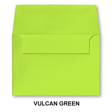 Vulcan Green A7 Bright Color Envelopes 5 1 4 X 7 1 4 For 5x7 Cards Pack Of 50 Envelopes Vulcan Green Vulcan Green Envelope Size 5 1 4 X