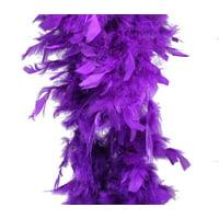 Purple Feather Boa (6', 60 grams)