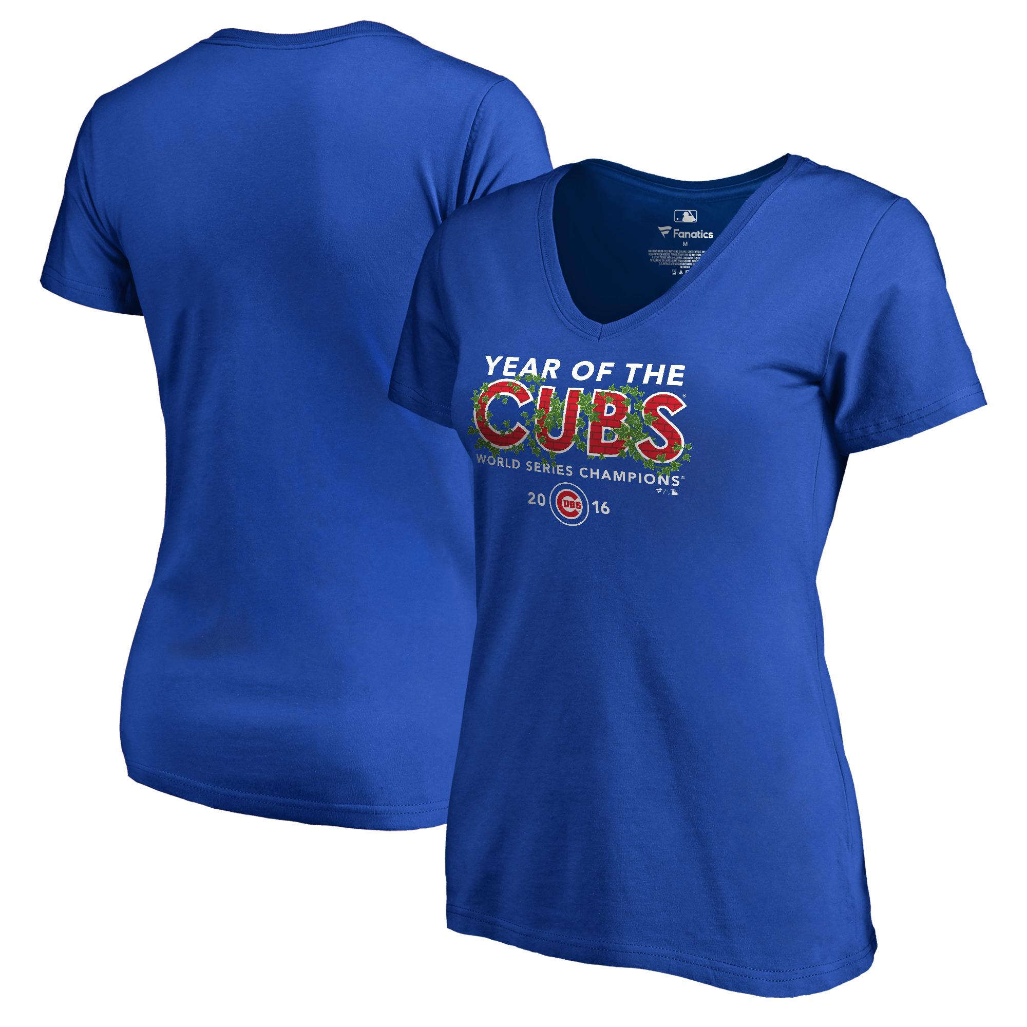 Chicago Cubs Women's 2016 World Series Champions Year of the Cubs T-Shirt - Royal