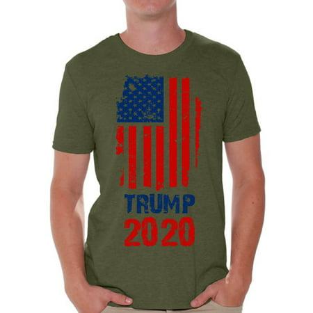 Mens 50s Style (Awkward Styles Trump Flag 2020 Tshirt for Men Donald Trump T Shirt Political Shirts Gifts for Republican Men USA Trump Men's Tshirt American Trump Flag Gifts 2020)