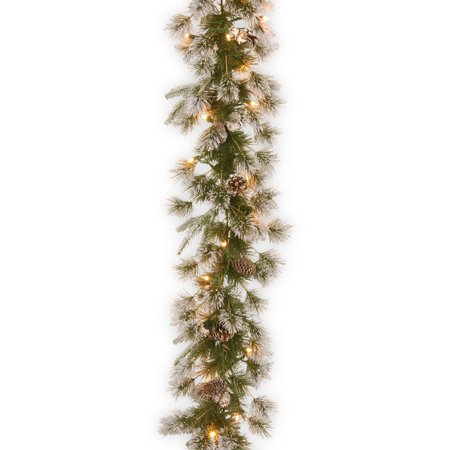 9' Liberty Pine Garland with Clear Lights