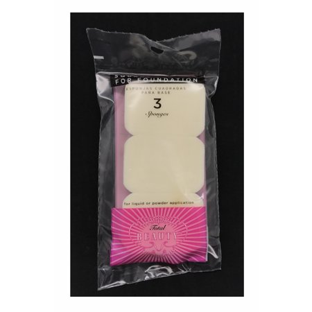 Total Beauty Make-up Pads - 3 Per Package - Use for Liquid or Cream Foundations