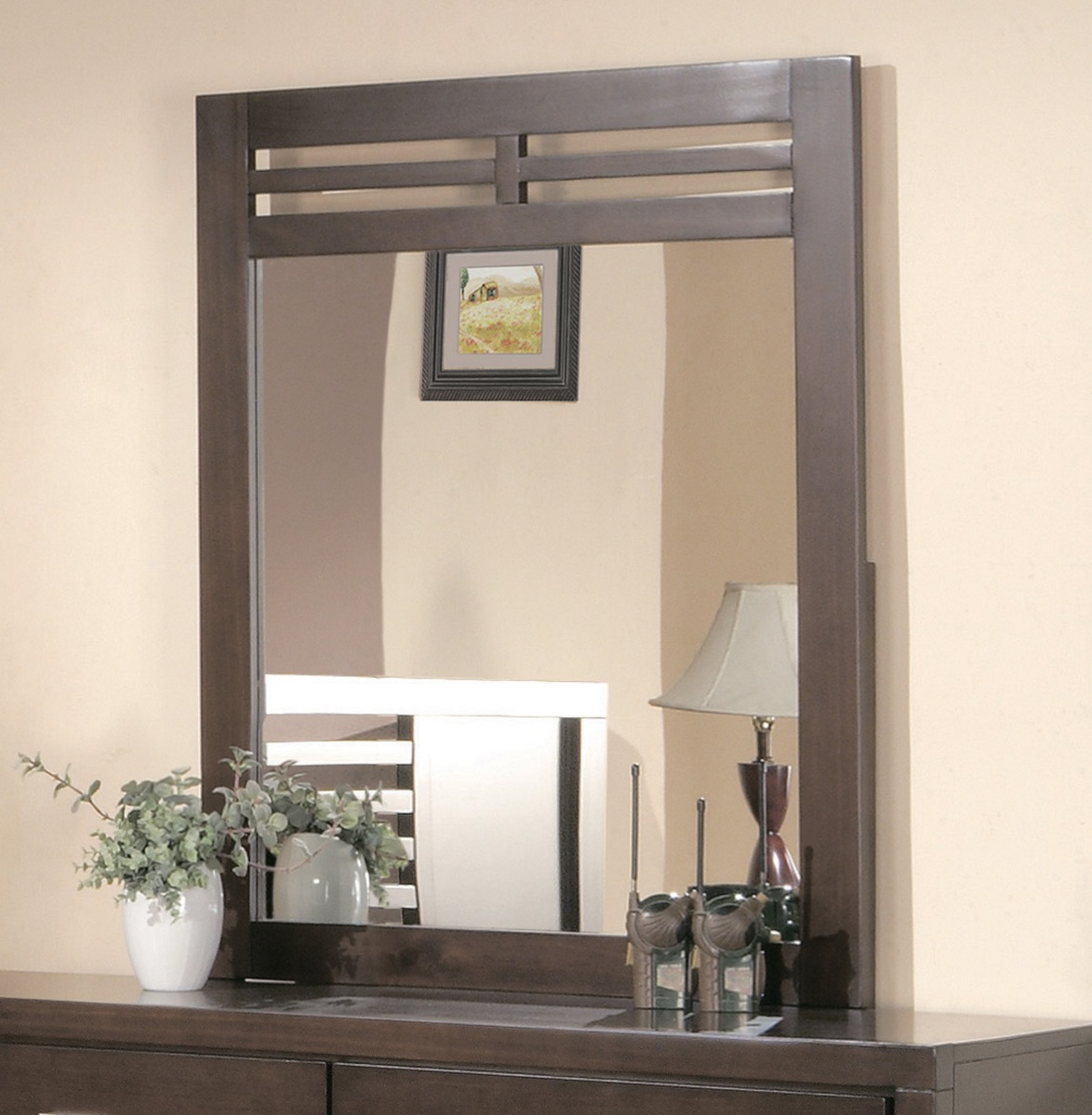 Homelegance Tove Rectangular Mirror in Brown by
