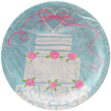 Bridal Shower Paper (Bridal Shower 'Whimsical Wedding' Large Paper Plates)