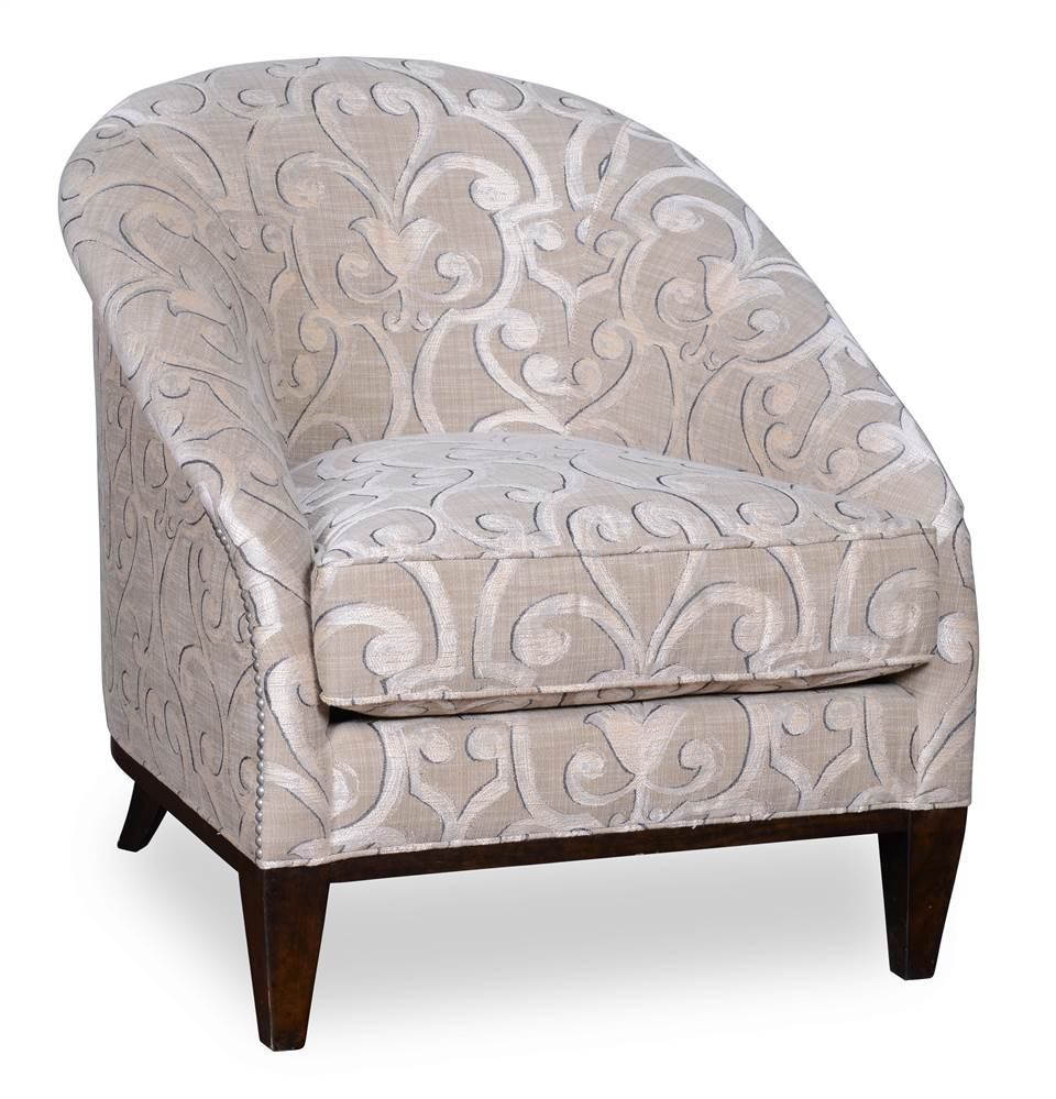 Accent Chair in Brindle Wood Finish