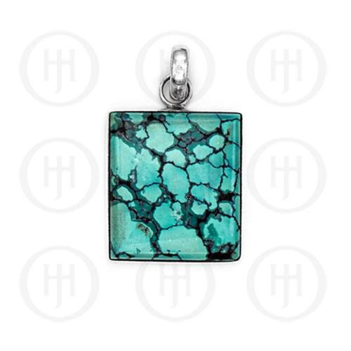 Doma Jewellery MAS06988 Sterling Silver -Turquoise Gemstone Pendant -P-1145-T